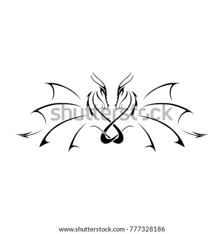 abstract logo with two dragons