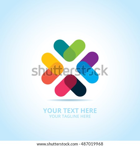 Abstract logotype, design concept, emblem, icon, flat logo elements for template.