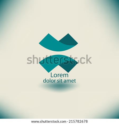 Abstract  loop Logo template. Corporate icon such as logotype. Creative Ribbon Vector.