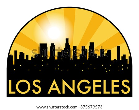 abstract los angeles skyline in