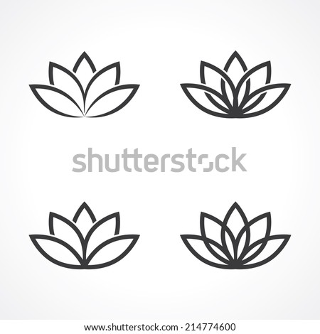 abstract lotus symbols vector