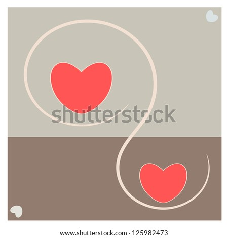 Abstract love and heart in love concept illustration
