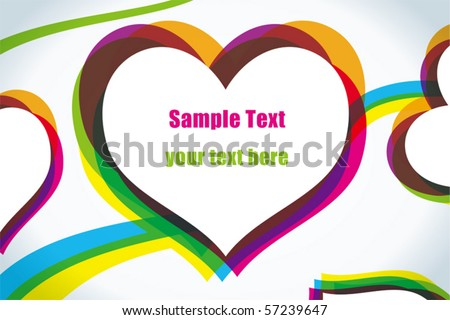 Love Heart Abstract. stock vector : Abstract love