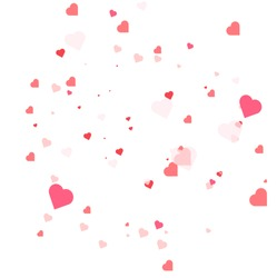 Abstract love for your Valentines Day.Red heart isolated on white background. Vector illustration.Greeting card design.