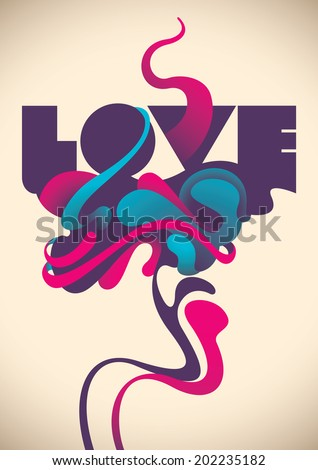 abstract love poster vector