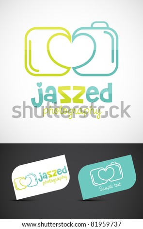 Abstract love/wedding photography icon such logo, vector EPS10.