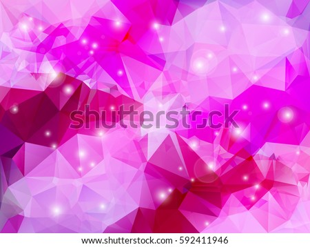 abstract low polygon shaped