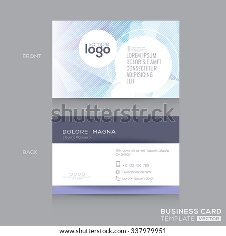 Abstract Low Polygonal Business cards Design Template
