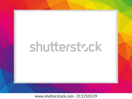 abstract low polygonal frame in