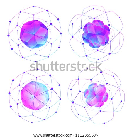 Abstract low polygonal modern shapes. Illustrations isolated on white background. Template creative element. Graphic concept for your design project
