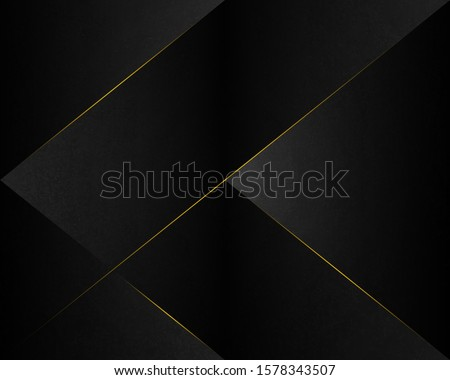 Abstract Luxury background.  polygonal pattern. black and gold lines. Vector illustration.