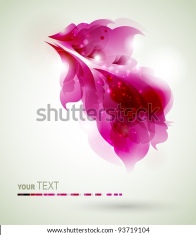 Abstract  magenta  elements for design