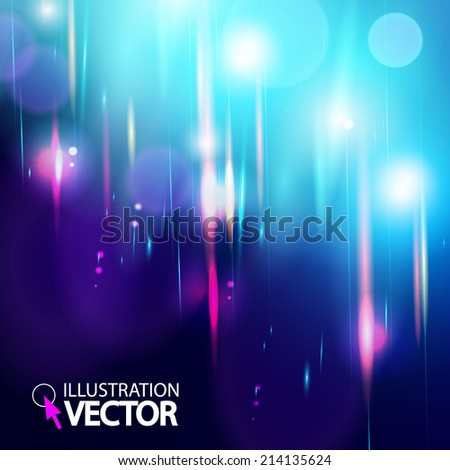 Stock Photo Abstract magic light bokeh background. Vector illustration