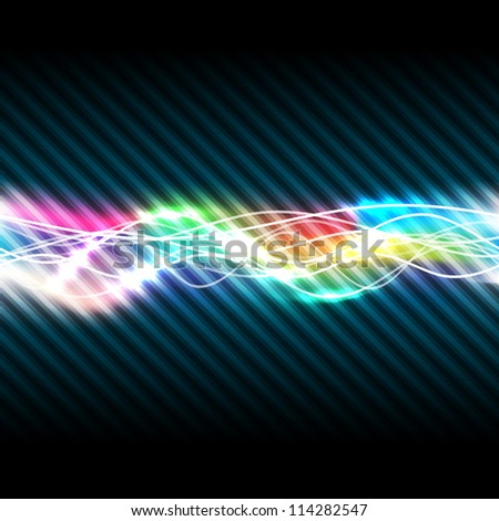 Abstract magic light of rainbow, vector illustration, eps10, 2 layers