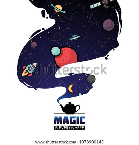 Abstract magic space illustration. Vector collection. #1078900145