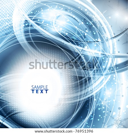 Abstract magic winter shiny background. Vector