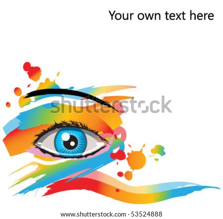 abstract makeup vector eye. For beauty, spa, and fashion concepts