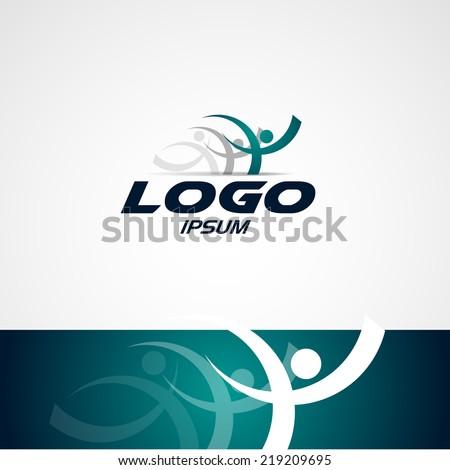 abstract man design concept