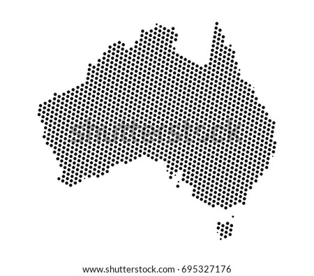 Australia map vector download free vector art stock graphics images abstract map of australia dots planet lines global world map halftone concept vector gumiabroncs Choice Image