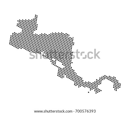 Abstract map of Central America dots planet, lines, global world map halftone concept. Vector illustration eps 10.