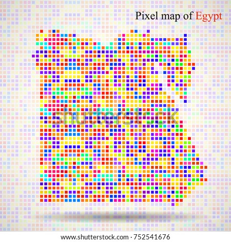 abstract map of egypt  colorful