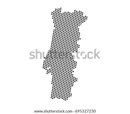Flat map of portugal download free vector art stock graphics images abstract map of portugal dots planet lines global world map halftone concept vector gumiabroncs Image collections