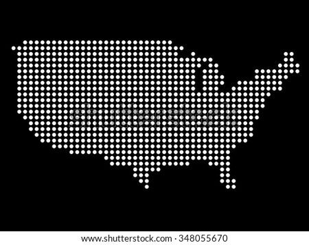 US Dotted Map Vector Download Free Vector Art Stock Graphics - Us Map Vector Free Download