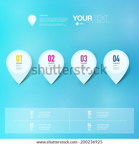 Abstract map pin icon design with shadows on minimal background  Eps 10 stock vector illustration  stock photo