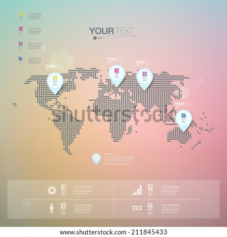 Abstract map pin icon design with shadows on minimal world map abstract map pin icon design with shadows on minimal world map background eps 10 stock vector gumiabroncs Gallery