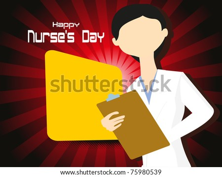 Cute Nursing Background Background With Cute Nurse