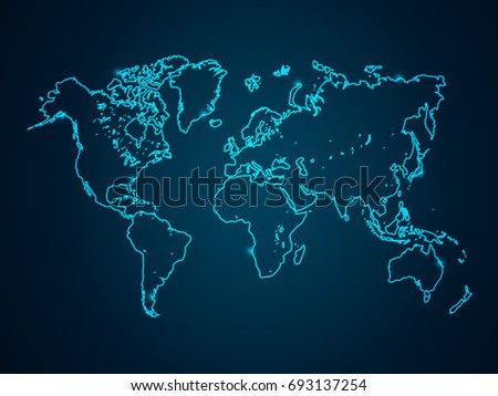 Tech world map vector download free vector art stock graphics abstract mash line and point scales on dark background with map world wire frame 3d gumiabroncs Choice Image