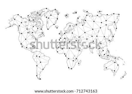 World Map Vector Scale
