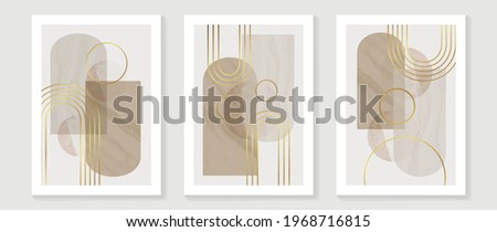 Abstract Math art background vector. Modern block color art wallpaper. Geometric marbling gold style texture. Cubism slow-poly backgrounds. Good for home deco, wall art, poster, invite and cover.