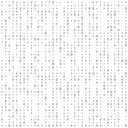 Abstract matrix background in abstract style. Light data binary. Glow effect. Futuristic background. High tech screen. Binary Computer Code. Coding. Hacker concept. Vector Background Illustration.