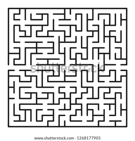 Abstract maze / labyrinth with entry and exit. Vector labyrinth.