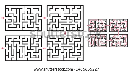 Abstract maze / labyrinth with entry and exit. Vector labyrinth 269.