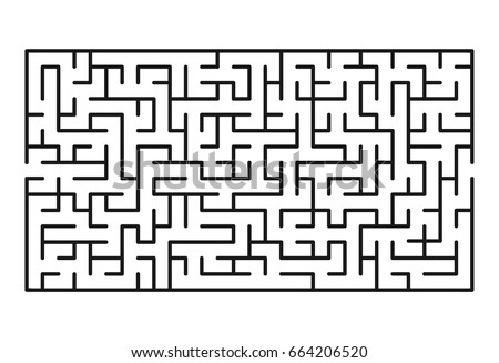 Abstract maze / labyrinth with entry and exit. Vector labyrinth 162.