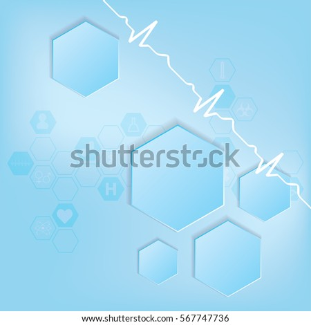 Abstract medical background . EPS 10. VECTOR
