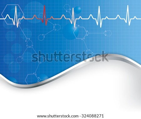 Abstract  medical background (Vector). EPS10