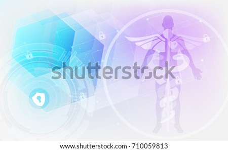 Abstract medical background with caduceus medical symbol. EPS 10., vector illustration.
