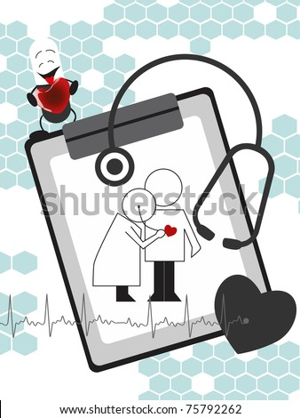 abstract medical concept background, vector illustration