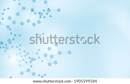Abstract medical concept with molecule pattern background. Vector illustration. Smart design for business ads. Foto stock ©