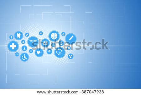 abstract medical health care background innovation technology design concept