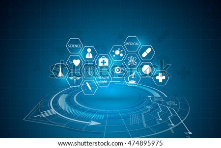 abstract medical innovation concept background