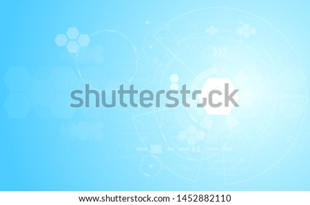 Abstract medical medicine and science concept innovation technology molecular structures chemical .space for text. vector background #1452882110