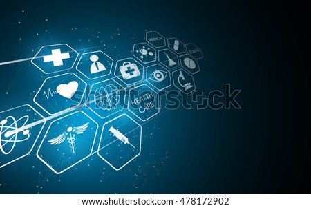 abstract medical pharmacy health care innovative concept background