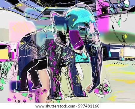 abstract memphis digital