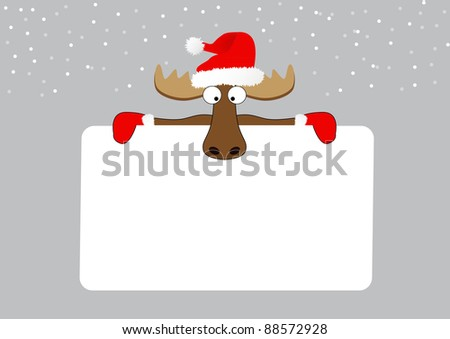 abstract merry christmas background with reindeer
