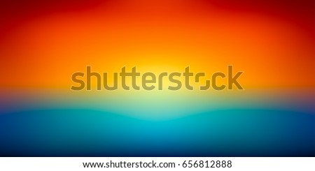 Stock Photo Abstract mesh background, color gradient, orange and blue, smooth sunset, blurred vector wallpaper