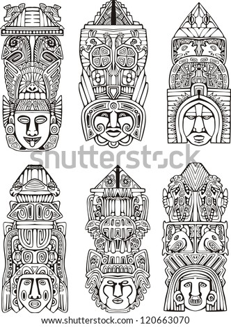 abstract mesoamerican aztec